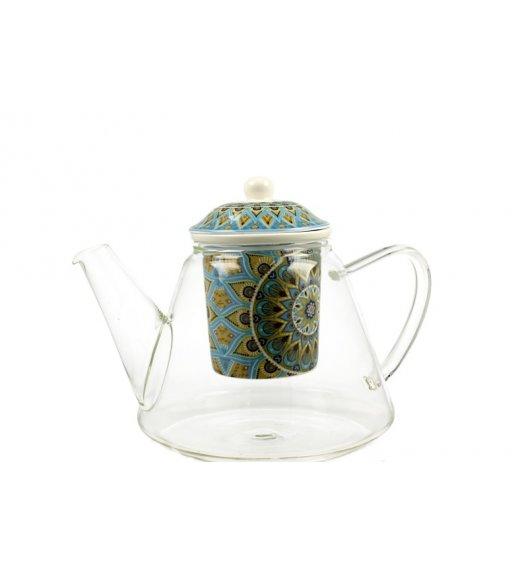 WYPRZEDAŻ! DUO TRIBAL Dzbanek szklany z zaparzaczem 1200ml/ Porcelana