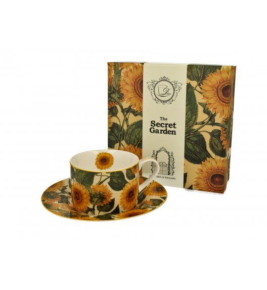 DUO SUNFLOWERS Filiżanka ze spodkiem 240 ml / porcelana