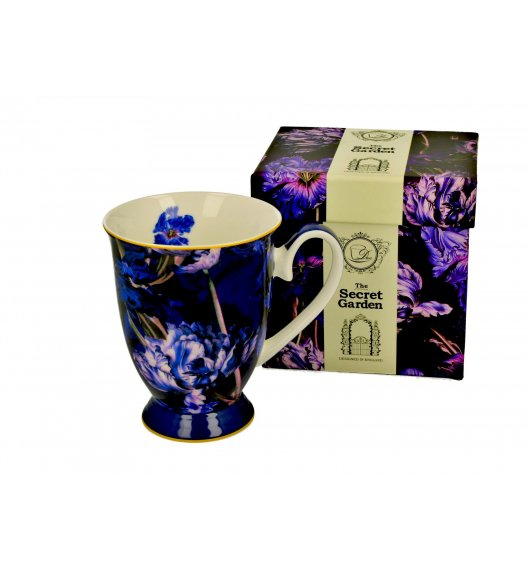 DUO VIOLET TULIPS Kubek na stopce 325 ml / porcelana