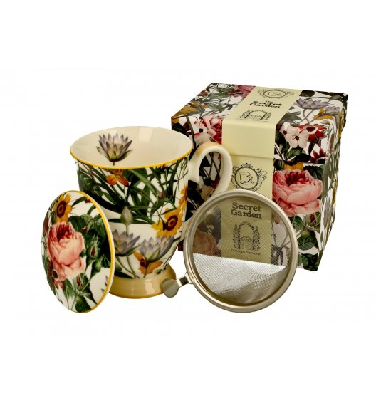 DUO SPRING FLOWERS Kubek z zaparzaczem 325 ml / porcelana
