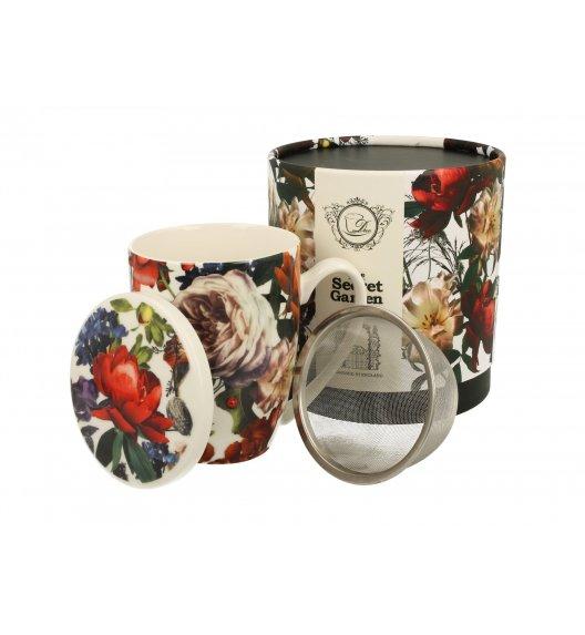 DUO WHITE ROSES Kubek z zaparzaczem 320 ml / porcelana