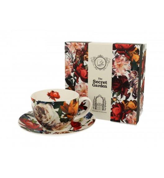 DUO WHITE ROSES Filiżanka ze spodkiem 250 ml / porcelana
