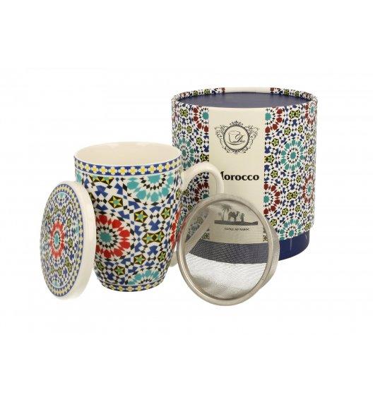 DUO MAROKO Kubek z zaparzaczem 320 ml / porcelana