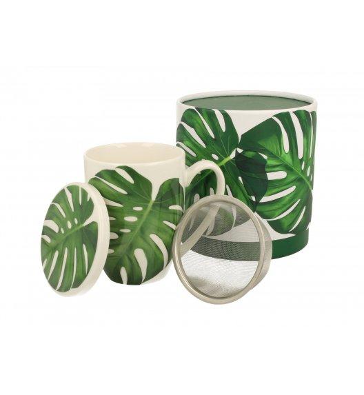 DUO MONSTERA Kubek z zaparzaczem 320 ml / porcelana