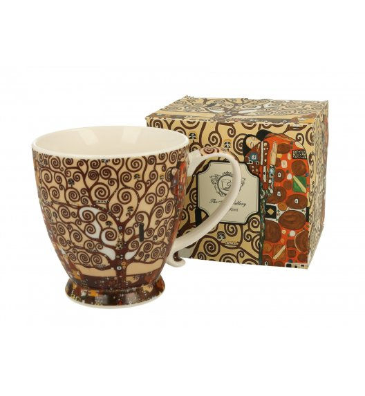 DUO TREE OF LIFE Kubek na stopce 480 ml / inspirowany dziełami Gustava Klimta / porcelana