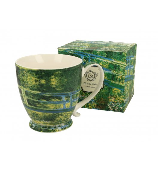 DUO JAPANESE BRIDGE Kubek na stopce 480 ml / inspirowany dziełami Claude'a Moneta / porcelana