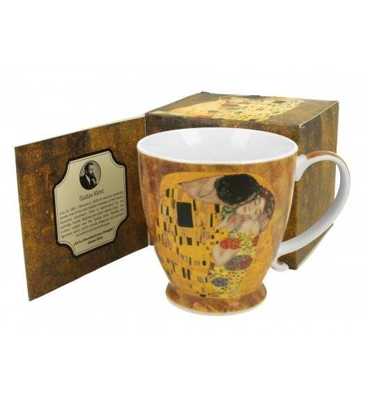 DUO KISS Kubek na stopce 480 ml / inspirowany dziełami Gustava Klimta / porcelana