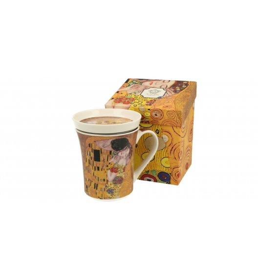 DUO KISS Kubek z zaparzaczem i pokrywką 330 ml / inspirowany dziełami Gustava Klimta / porcelana