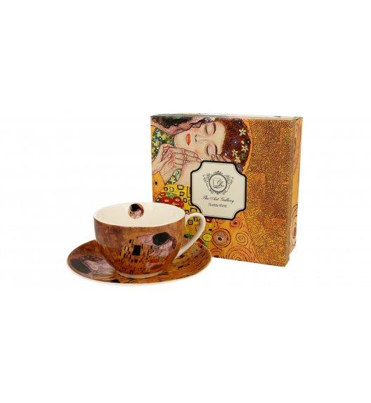 DUO KISS Filiżanka ze spodkiem 280 ml / inspirowany dziełami Gustava Klimta / porcelana