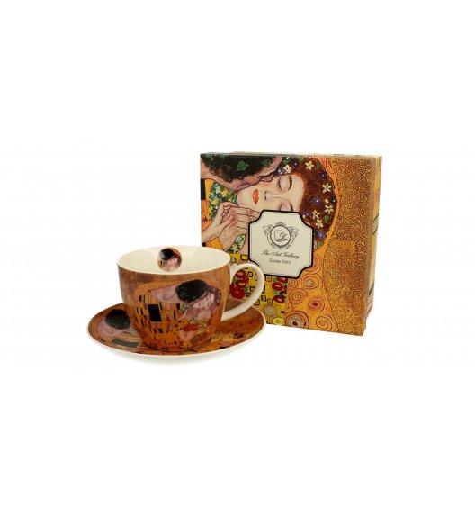 DUO KISS Filiżanka ze spodkiem 450 ml / inspirowany dziełami Gustava Klimta / porcelana