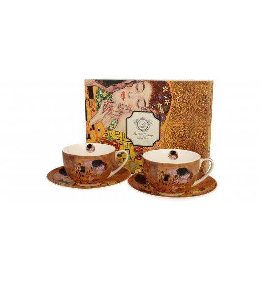 DUO KISS Komplet 2 filiżanek ze spodkiem 280 ml / inspirowane dziełami Gustava Klimta / porcelana