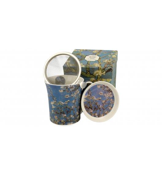 DUO ALMOND BLOSSOM Kubek z zaparzaczem i pokrywką 330 ml / inspirowany dziełami Van Gogha / porcelana