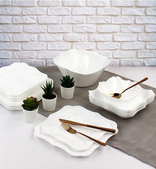 WYPRZEDAŻ! LUMINARC AUTHENTIC WHITE Serwis obiadowy 25 elementów dla 6 osób / Wyprodukowane we Francji