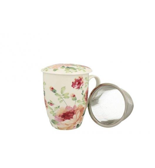 DUO MARY ROSE Kubek z zaparzaczem 330 ml / porcelana