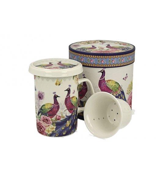 DUO VIOLET Kubek z zaparzaczem 320 ml / porcelana