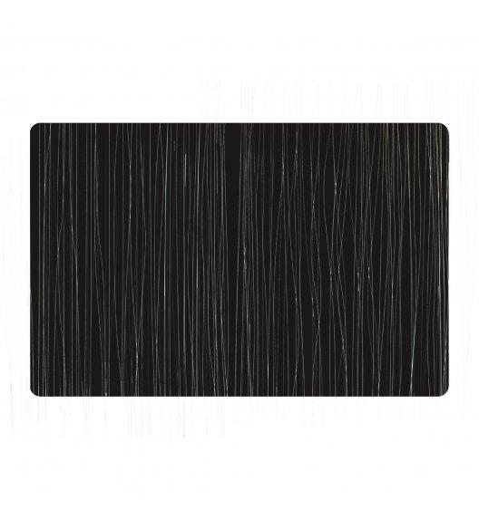 ZELLER METALIC Podkładka PCV na stół 43,5 x 28,5 cm / czarna