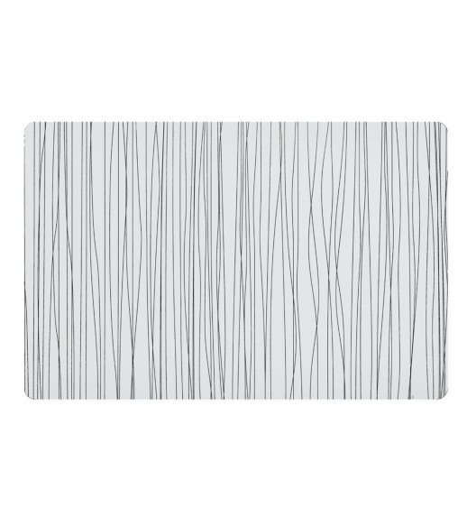 ZELLER METALIC Podkładka PCV na stół 43,5 x 28,5 cm / biała