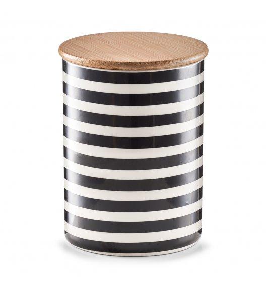 ZELLER PASKI Pojemnik z bambusową pokrywką 900 ml / ceramika