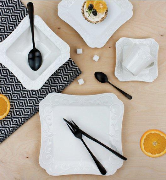 DUO ING Komplet obiadowo - kawowy 30 el / 6 osób / porcelana