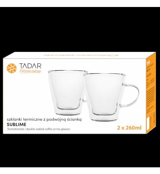TADAR SUBLIME Komplet 2 szklanek termicznych 260 ml z podwójną ścianką / szkło