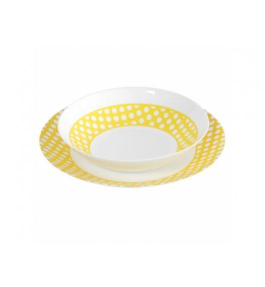 ARCOPAL AGATHA JAUNE Komplet obiadowy 18 el dla 6 os / Szkło hartowane / 00268