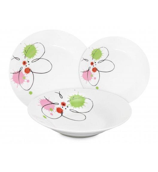 WYPRZEDAŻ! FIORE Serwis obiadowy 18 elementów dla 6 osób / Ceramika / Italian Design