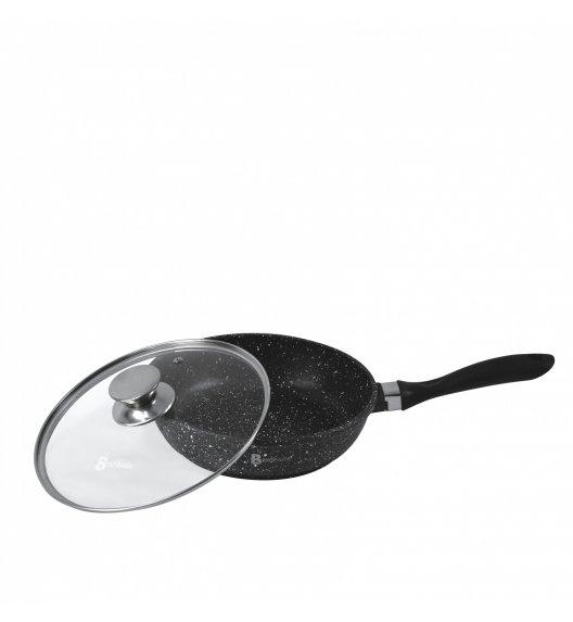 BRUNBESTE Patelnia głęboka z pokrywką 28 cm / powłoka granitowa / BRN1948