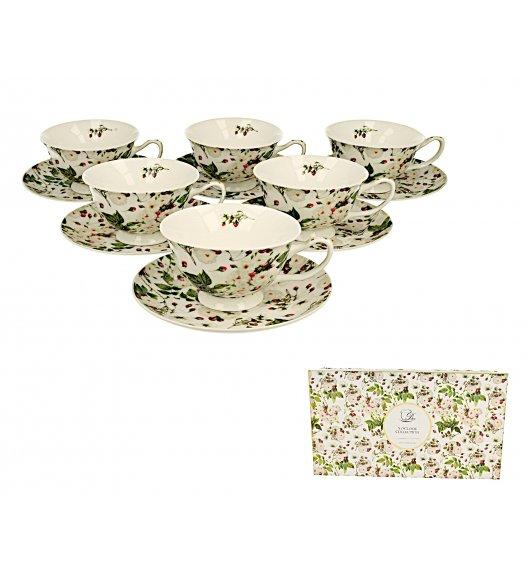 DUO MARIANNE Komplet 6 filiżanek 200 ml + spodki / porcelana