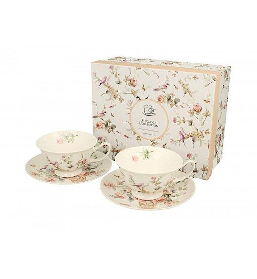 DUO ANNA Komplet 2 filiżanek 200 ml + spodki / porcelana