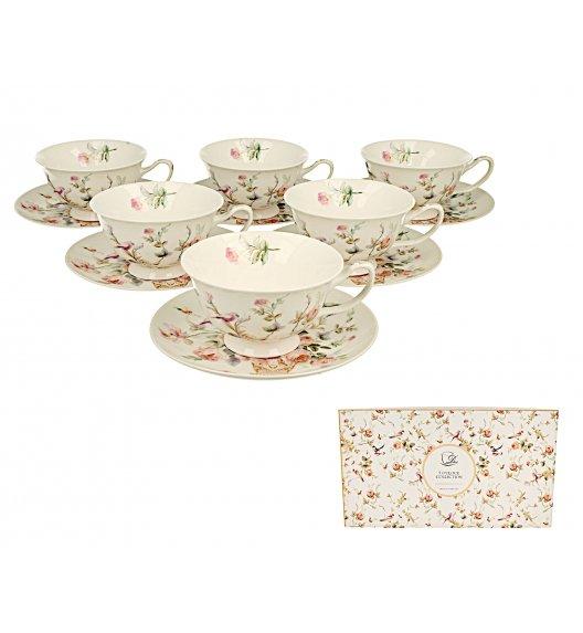 DUO ANNA Komplet 6 filiżanek 200 ml + spodki / porcelana