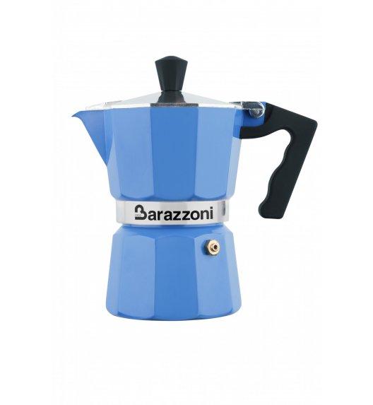 BARAZZONI LA CAFFETERIA Kawiarka na 3 filiżanki / niebieska / aluminium