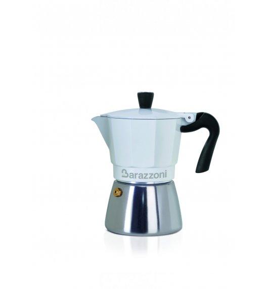 BARAZZONI HYBRID CAFFETERIA Kawiarka na 3 filiżanki / biała / stal nierdzewna + aluminium