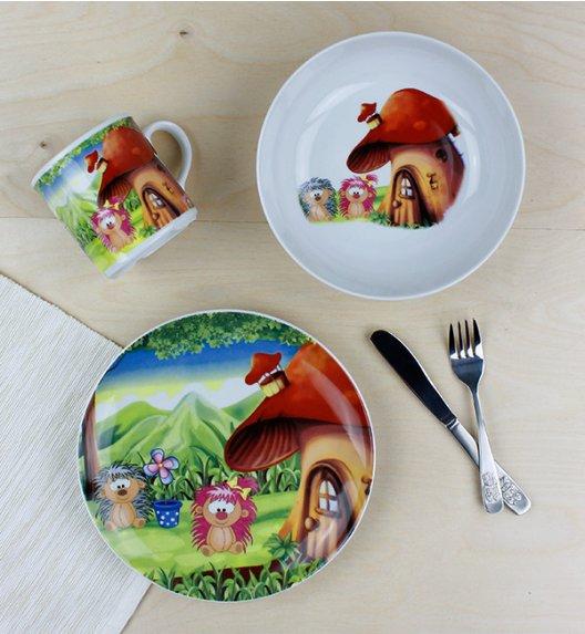 LUBIANA JEŻYKI Komplet obiadowy dla dzieci 3 el / porcelana