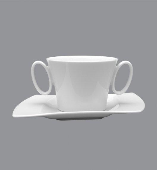 LUBIANA WING Bulionówka 400 ml + spodek 21,5 cm / 2 el / porcelana