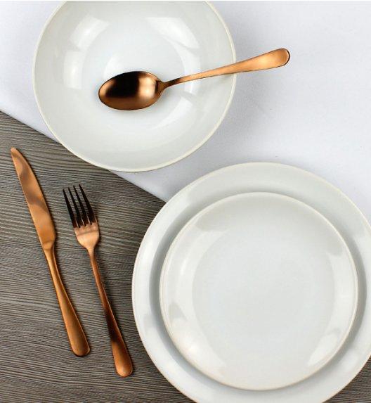 WYPRZEDAŻ! KAIA Komplet talerzy 12 elementów + 3 gratis / biały / ceramika