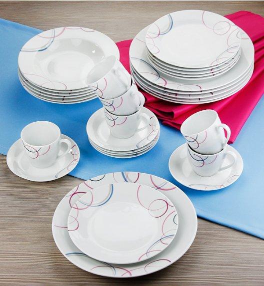 WYPRZEDAŻ! FLIRT PASTELLO Komplet kawowy 15 el / Porcelana