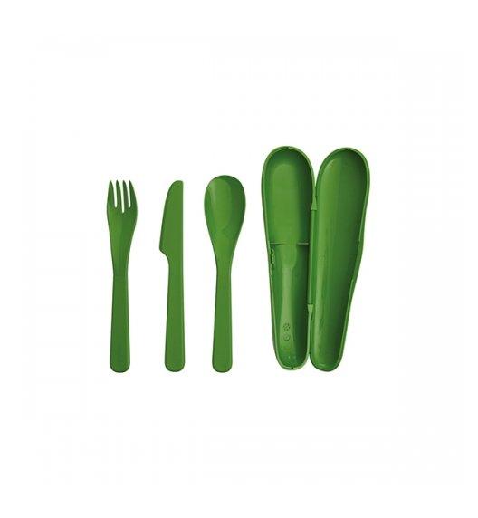 ALADDIN FOOD Ekologiczny zestaw sztućców 3 el / zielony