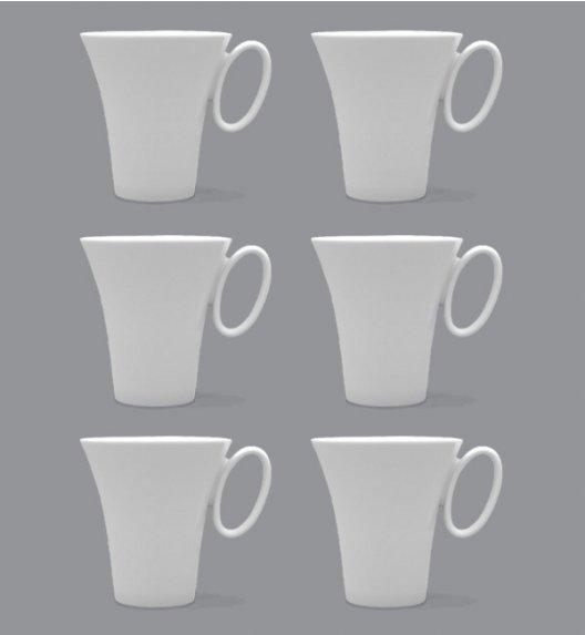 LUBIANA WING Komplet Kubki 300 ml / 6 el / 6 os / porcelana