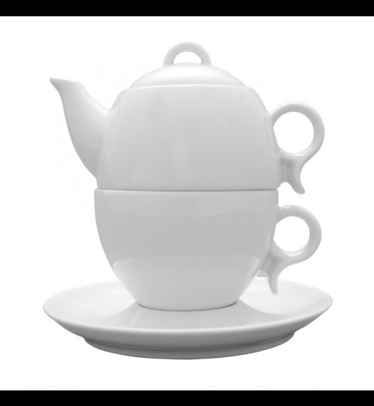 LUBIANA BOLA Komplet czajnik 0,3 l + filiżanka 0,28 l + spodek 16,5 cm / porcelana