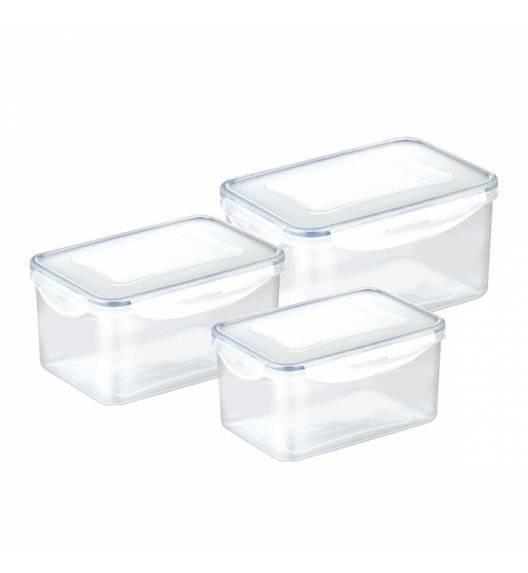 TESCOMA FRESHBOX Komplet pojemników prostokątnych na żywność 3 el ( 0,9l / 1,6l / 2,4l)