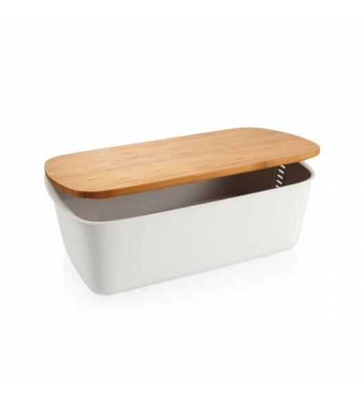 TESCOMA ONLINE Chlebak z miejscem na nóż / drewno bambusowe / biały