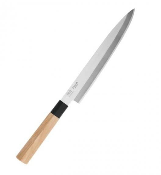 STELLAR SAMURAI Nóż Yanagiba 20 cm / stal nierdzewna + drewno klonowe