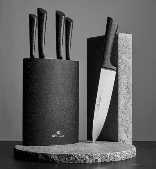 GERLACH GRANITEX Komplet 5 noży w bloku + komplet desek