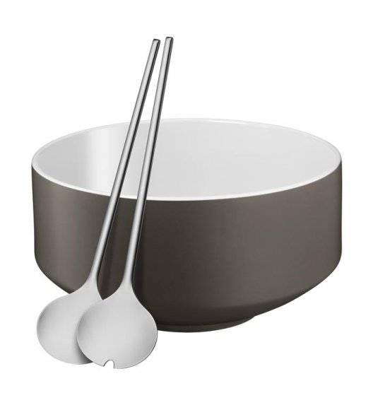 WMF MOTO Zestaw do sałatek / porcelana / szary
