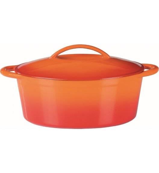 GSW ORANGE Owalna brytfanna żeliwna 7 L / pomarańczowa / indukcja