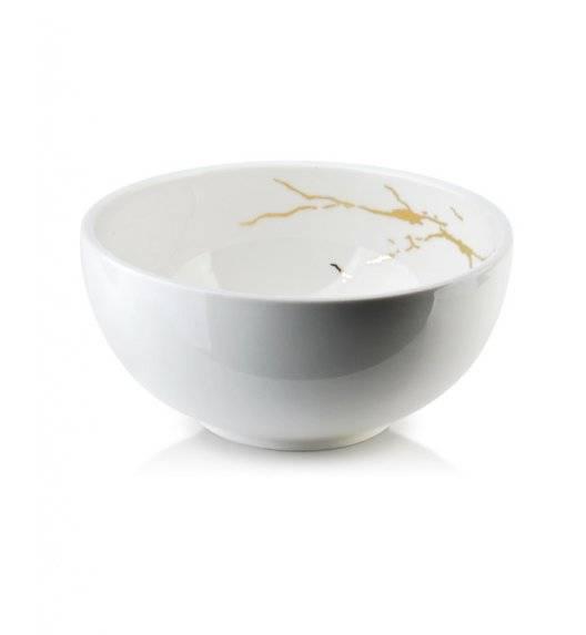 ODETTE GOLD Miska 600 ml  / biała / porcelana