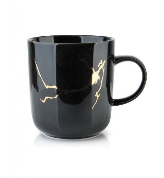 ODETTE GOLD Kubek 380 ml  / czarny / porcelana