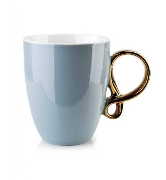 INFINITY GOLD Kubek 370 ml / szary / porcelana
