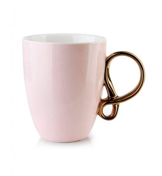 INFINITY GOLD Kubek 370 ml / różowy / porcelana