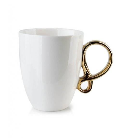 INFINITY GOLD Kubek 370 ml / biały / porcelana